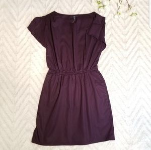 New Gap Plum Asymmetrical Dress
